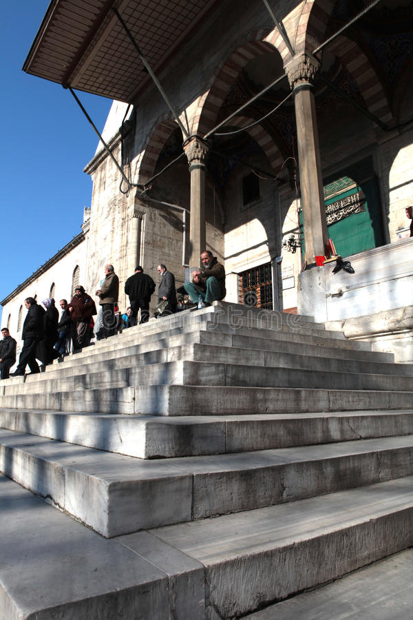 Moschea nuova a Costantinopoli fotografia stock