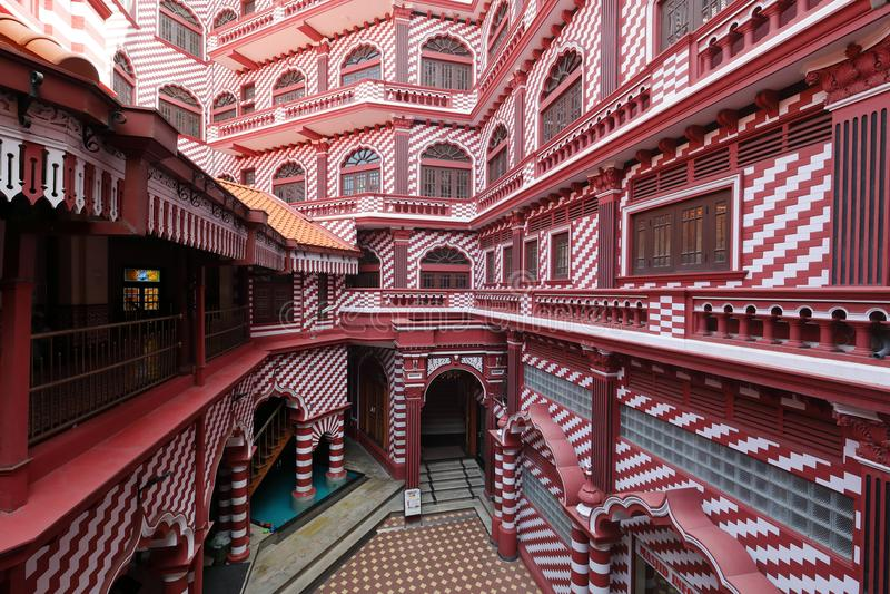 Moschea rossa di Colombo nello Sri Lanka fotografia stock