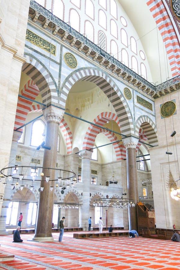 Moschea Suleymaniye Camisi di Suleymaniye a Costantinopoli, Turchia fotografie stock libere da diritti