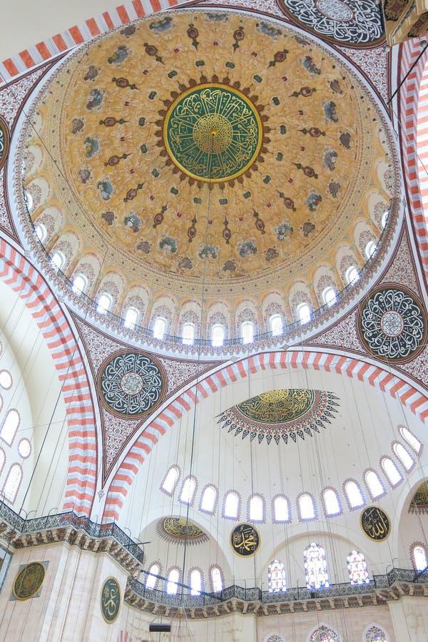 Moschea Suleymaniye Camisi di Suleymaniye a Costantinopoli, Turchia fotografia stock