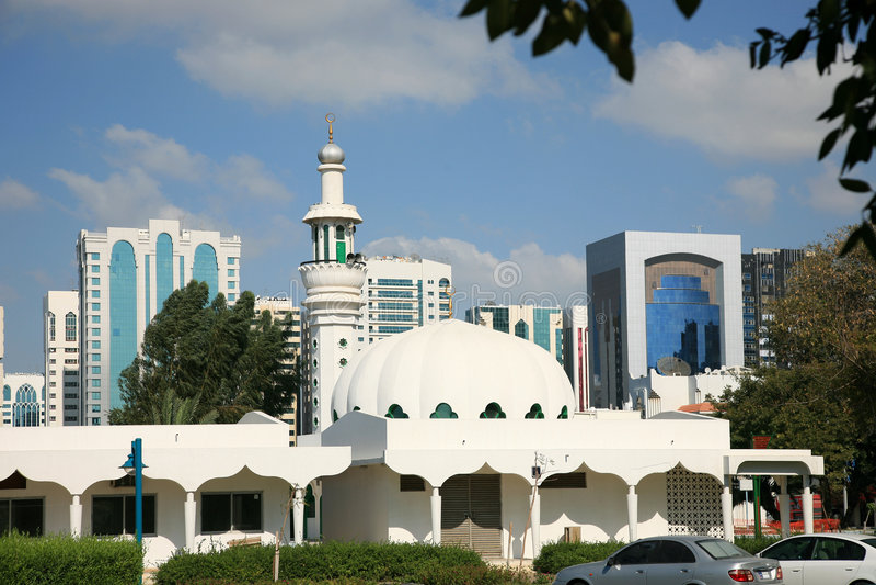 Moschea tradizionale Ahu Dhabi immagini stock
