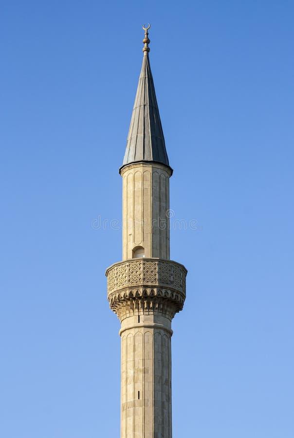 Moschea turca nel parco della regione montana di Bacu, Azerbaigian immagini stock libere da diritti