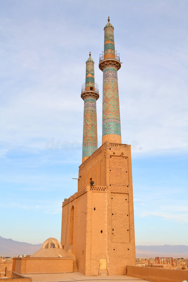 Moschea in Yazd, Iran immagini stock libere da diritti