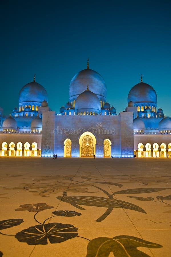 Moschea zayed sceicco UAE fotografia stock libera da diritti