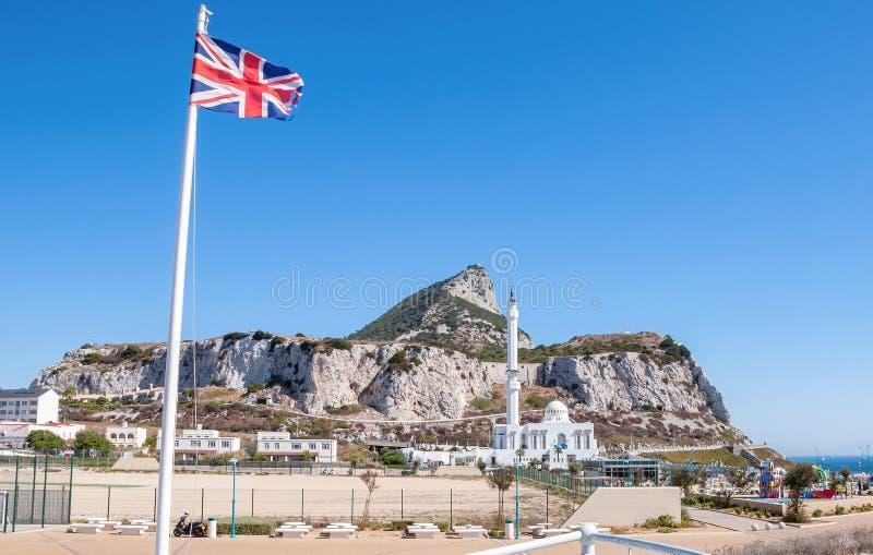 Moschee auf Gibraltar stockfotos