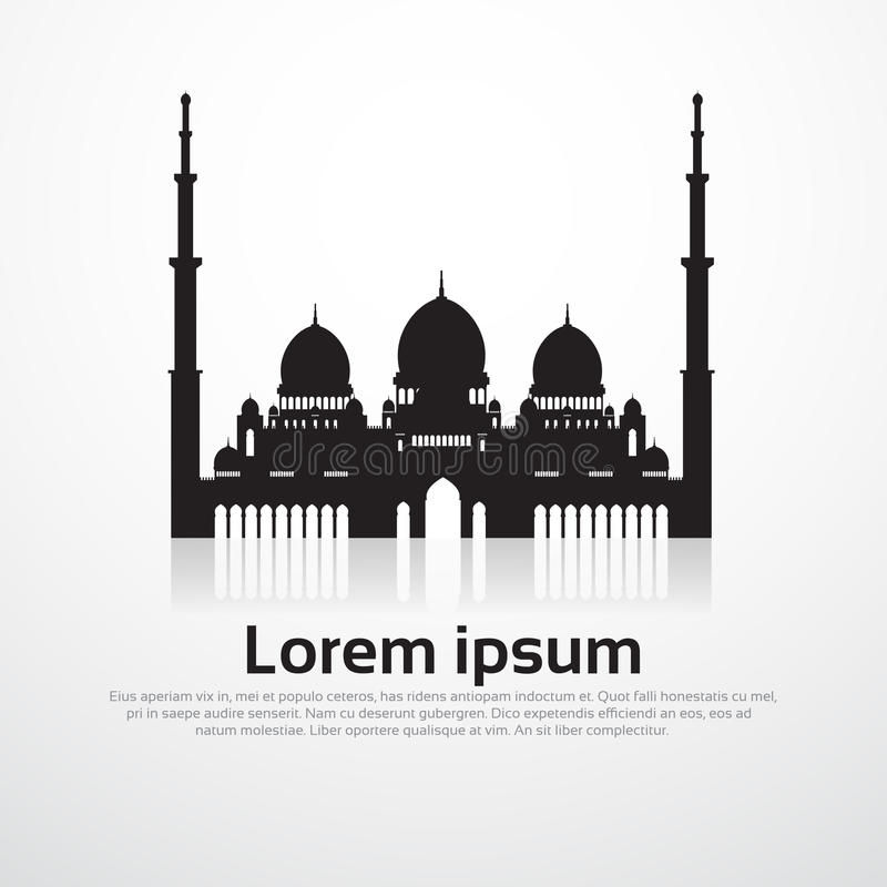 Moschee, die Ramadan Kareem Muslim Religion Holy Month errichtet stock abbildung