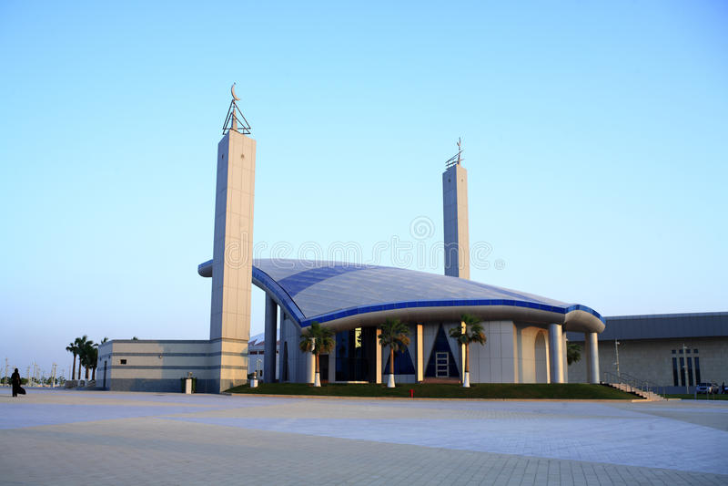 Moschee in Doha Sports Komplex lizenzfreie stockfotos