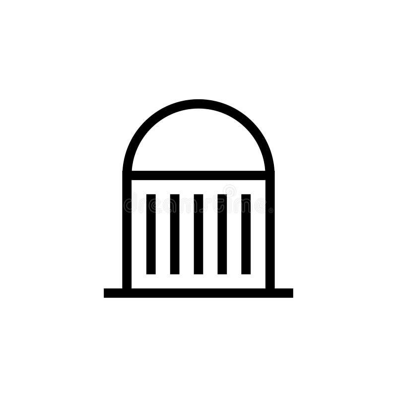 Moschee, errichtende Ikone Element der errichtenden Ikone Dünne Linie Ikone für Websitedesign und Entwicklung, APP-Entwicklung Er stock abbildung