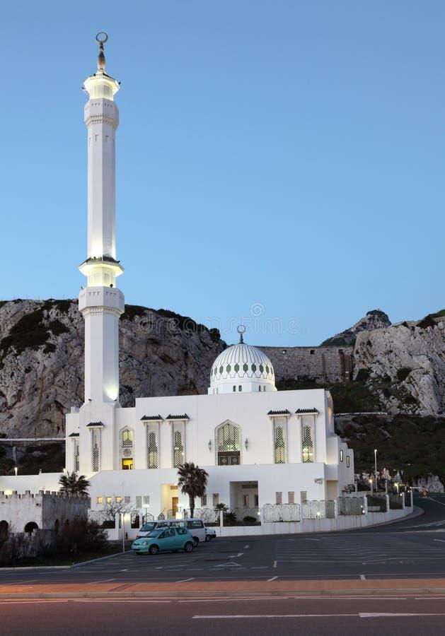 Moschee in Gibraltar lizenzfreie stockbilder