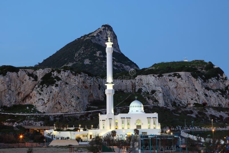 Moschee in Gibraltar an der Dämmerung lizenzfreie stockfotografie