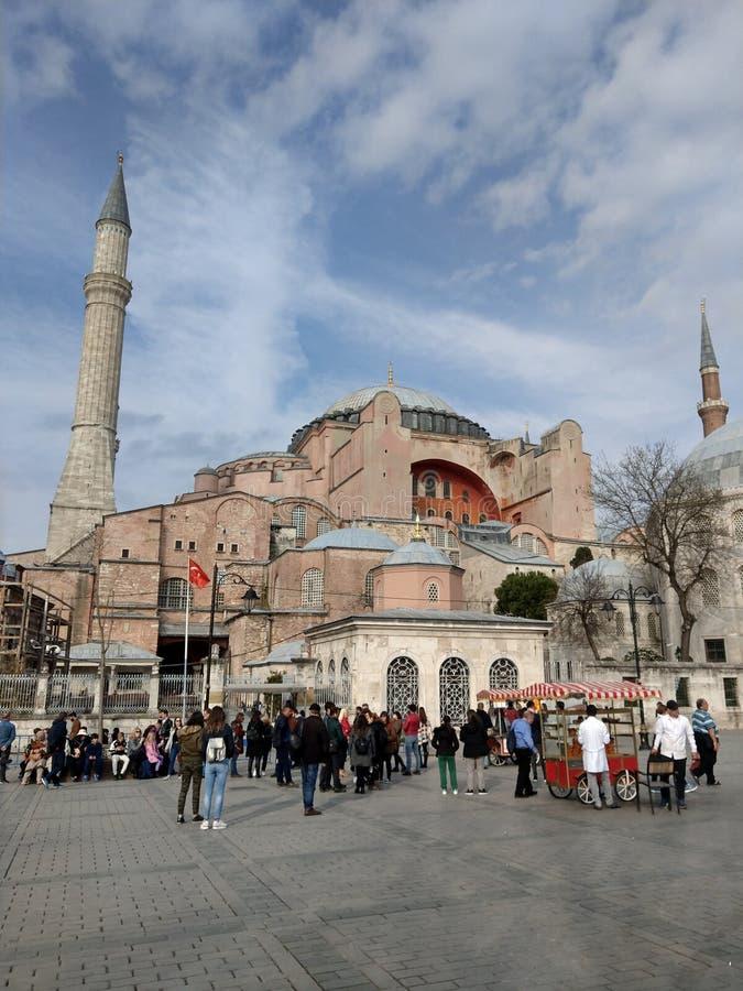 Moschee Hagia Sophia in Istanbul-Truthahn lizenzfreies stockfoto