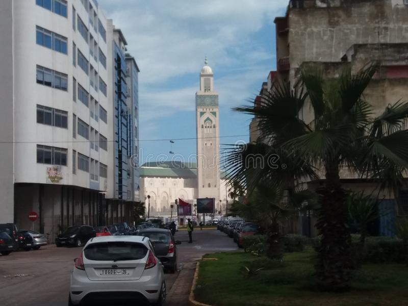Moschee Hassan 2 Marokkos Casablanca stockbilder