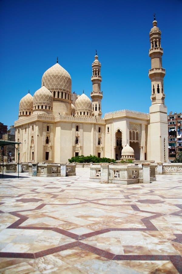 Moschee I in Alexandria, Ägypten stockbild