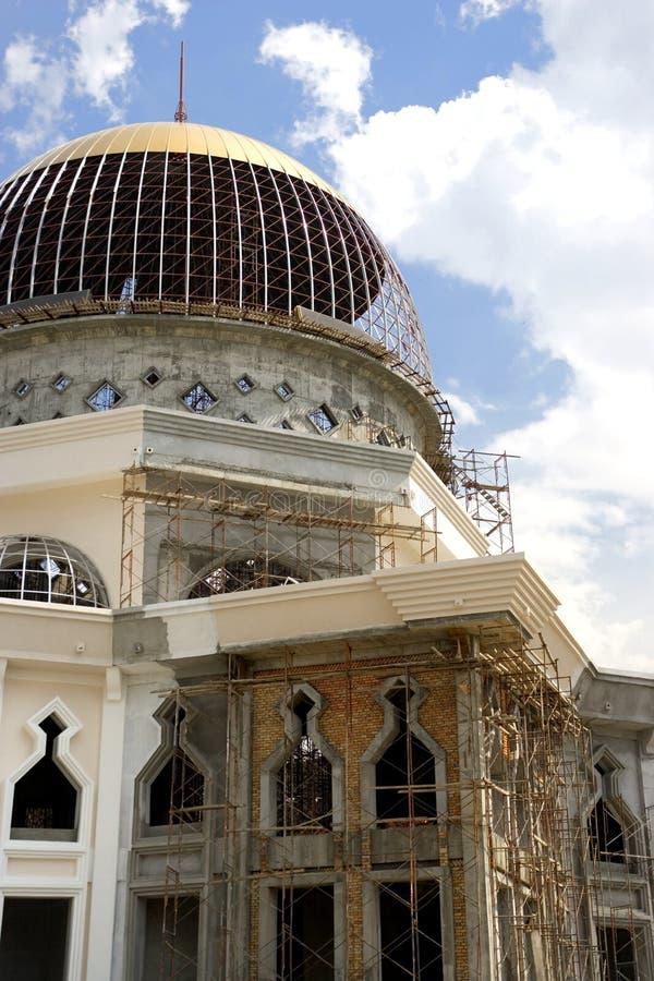 Moschee im Bau lizenzfreie stockfotografie