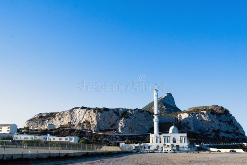 Moschee im Felsen von Gibraltar lizenzfreie stockfotografie