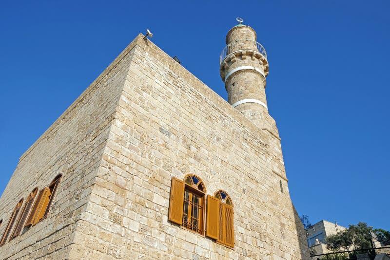 Moschee Jama al-Bahr oder Seemoschee in Jaffa lizenzfreies stockfoto