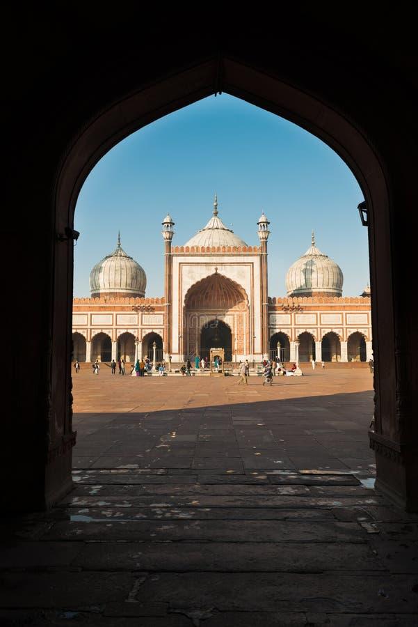 Moschee Jama Masjid, altes Dehli, Indien stockfotos