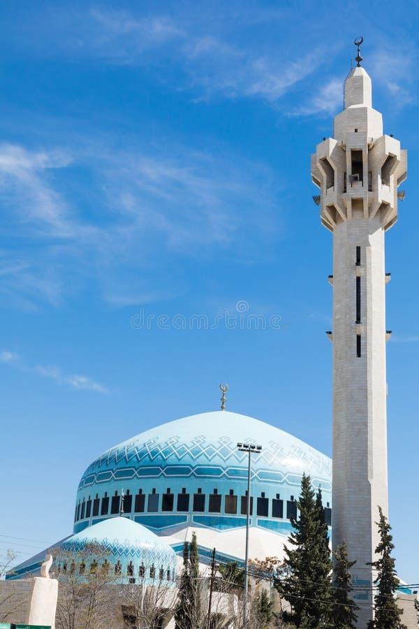 Moschee Königs Abdullah I in Amman, Jordanien lizenzfreies stockfoto