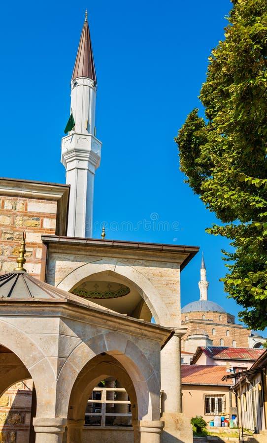 Moschee nel centro storico di Skopje fotografia stock
