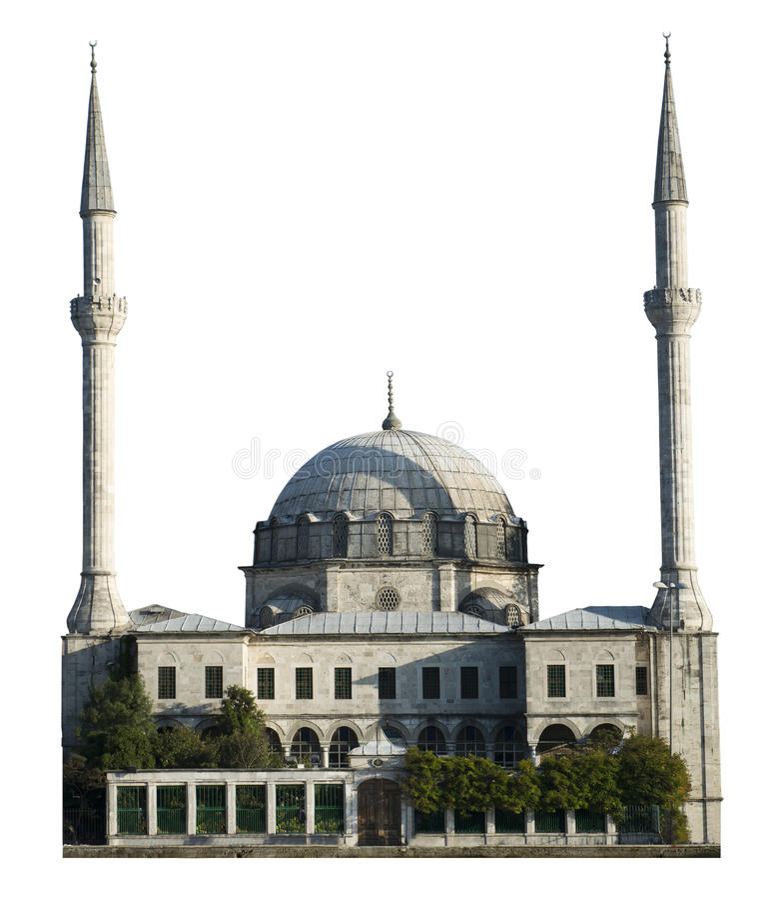 Moschee-Ort der Verehrung, Islam-Religion, getrennt lizenzfreies stockfoto