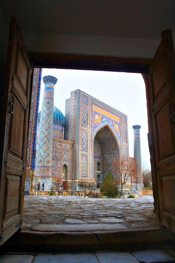 Moschee in Samarkand lizenzfreies stockbild