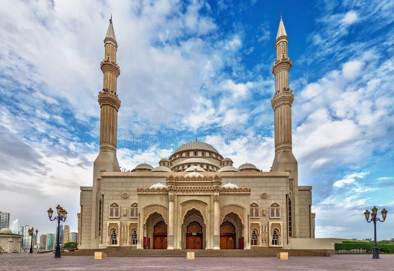 Moschee in Scharjah lizenzfreie stockfotografie
