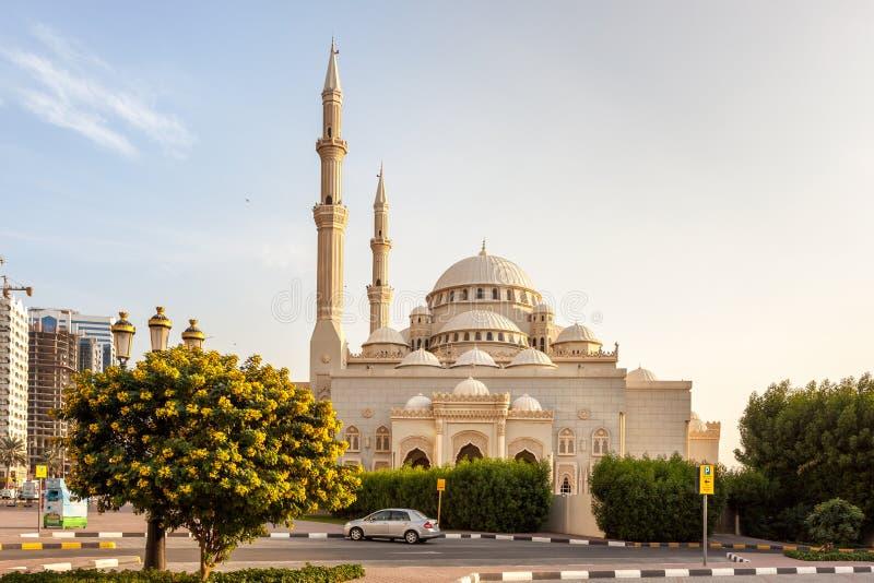 Moschee Scharjah lizenzfreie stockfotos