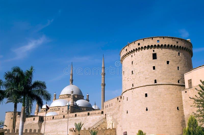 Moschee und Zitadelle lizenzfreie stockbilder