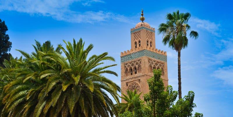Moschee von Koutoubia in Marrakesch, Marokko stockfotos