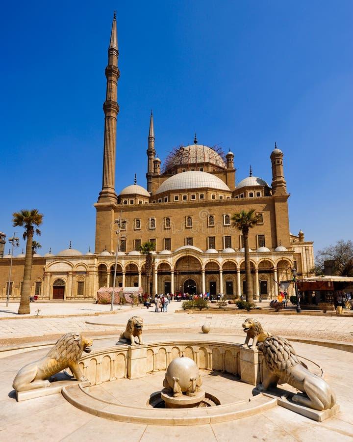 Moschee von Mohamed Ali, Kairo stockbilder