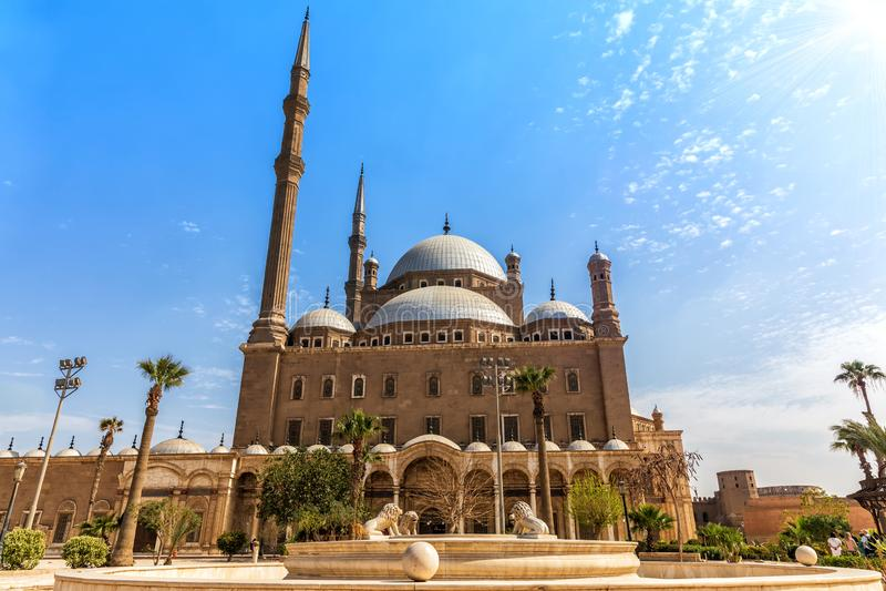 Moschee von Muhammad Ali, Kairo-Zitadelle, Ägypten lizenzfreies stockfoto