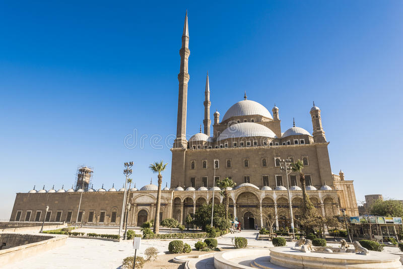 Moschee von Muhammad Ali, Saladin Citadel von Kairo (Ägypten) stockbild