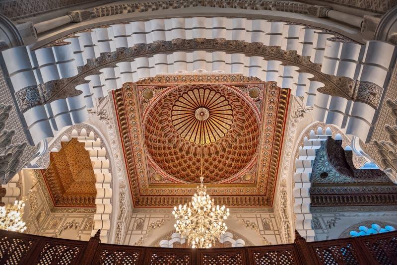 Moscheeinnenwölbung Casablanca Marokko Hassan-II stockfotos