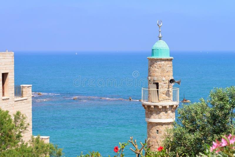 Moscheen-Hauben-Seemoschee Bahar-Moschee in Jaffa lizenzfreies stockbild
