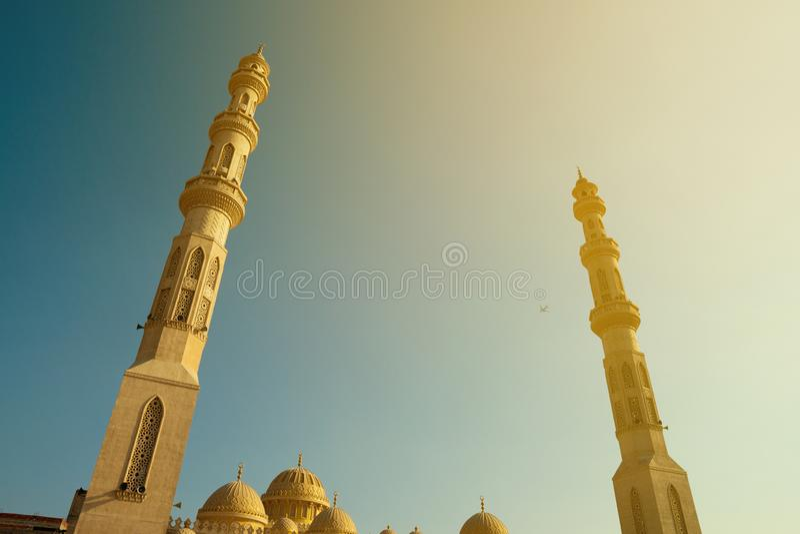 Moscheen-Minarett in Hurghada stockbilder