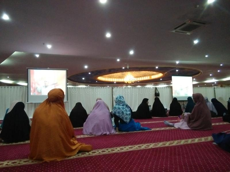 Moscheen-Tätigkeit stockbild