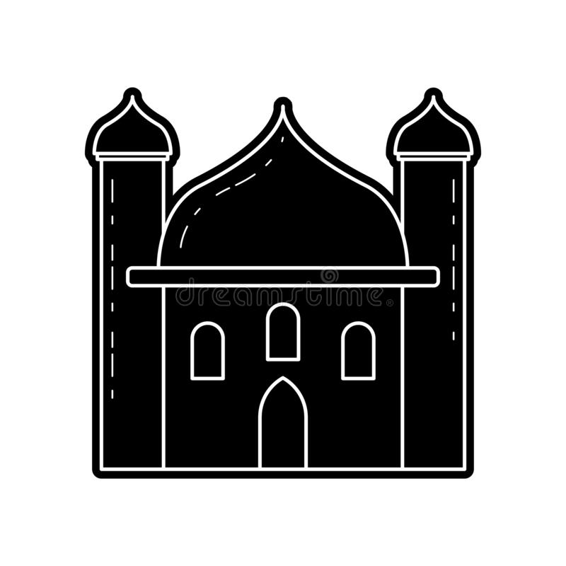 Moscheenikone Element von arabischem f?r bewegliches Konzept und Netz Appsikone Glyph, flache Ikone f?r Websiteentwurf und Entwic vektor abbildung
