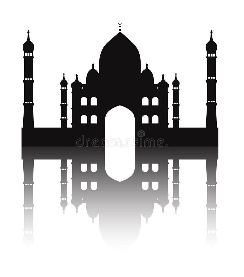 Moscheenschattenbild auf einem weißen Hintergrund, Ramadan, Religion lizenzfreie abbildung