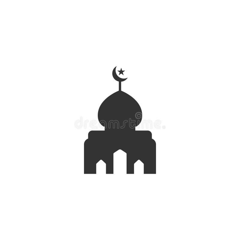Moscheenschattenbildgrafikdesign-Schablonenvektor lizenzfreie abbildung