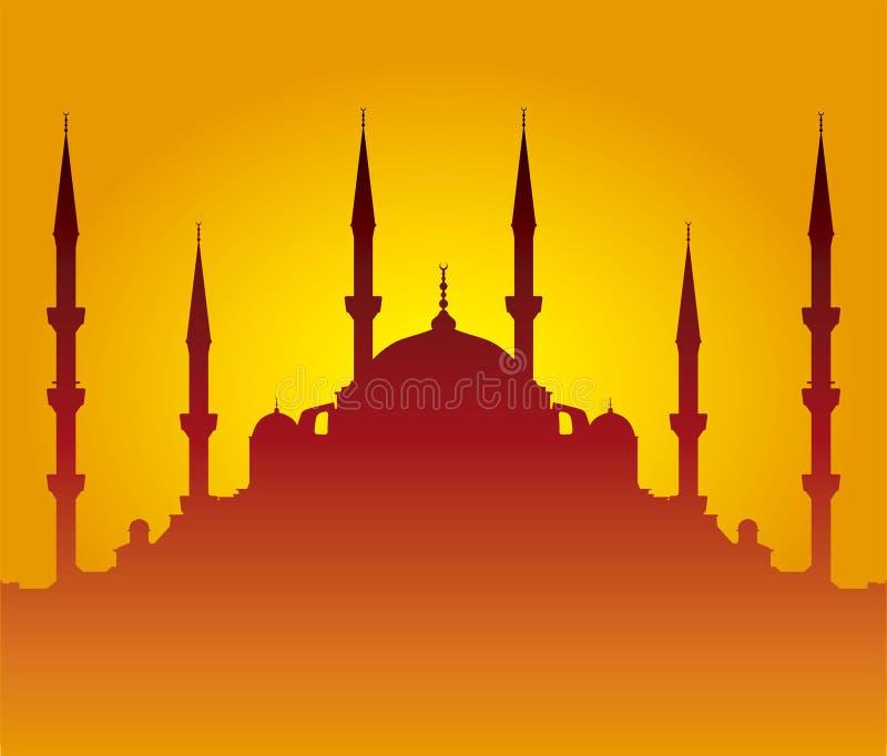Moscheeschattenbild vektor abbildung