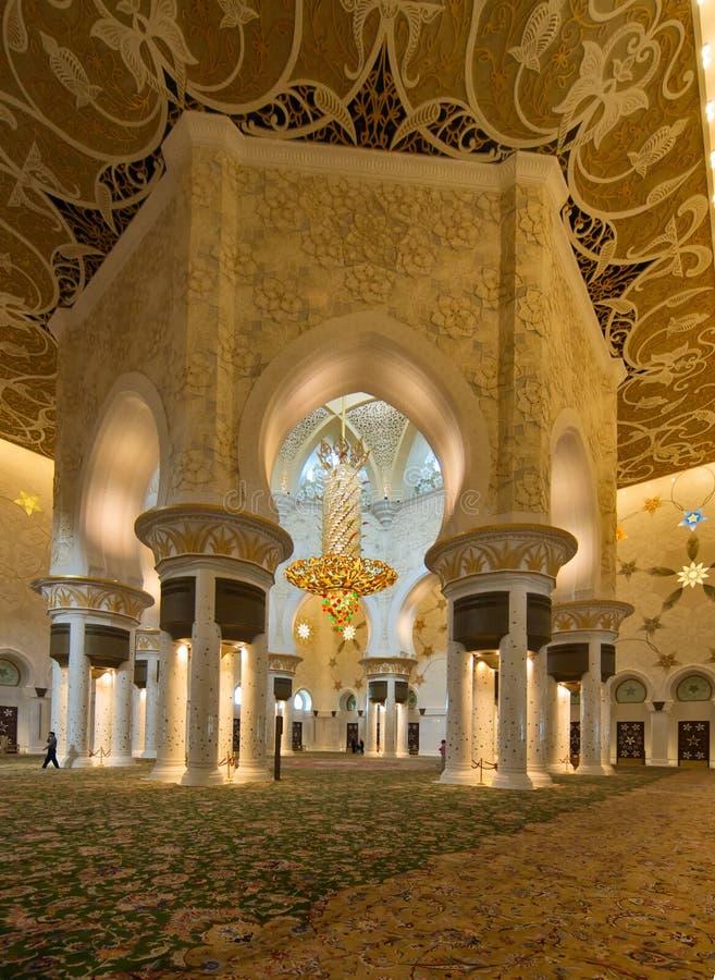 Moscheinnenraum stockbild