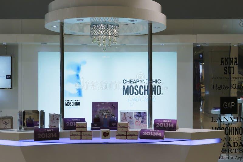 Moschino cosmetics counter royalty free stock photos