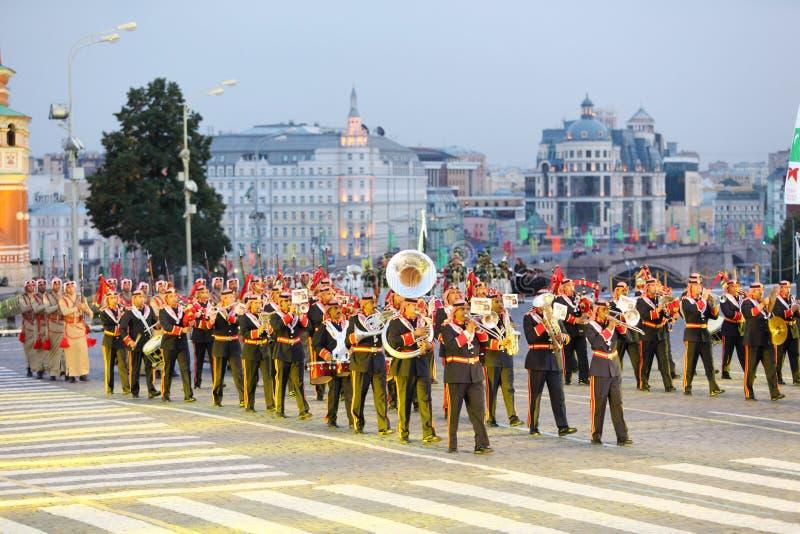 Orchestre des forces armées de la marche de la Jordanie photo libre de droits