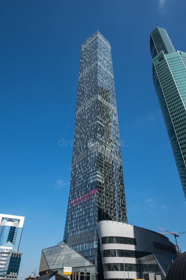 MOSCOU - 31 AOÛT 2017 : Vue futuriste de skyscra de Moscou-ville image libre de droits