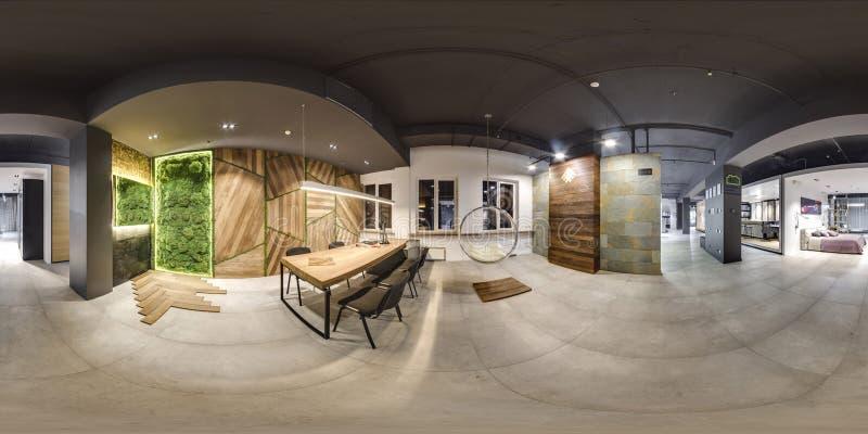 Moscou - 2018 : Bel intérieur à la mode de magasin de conception de meubles dans le mail moderne avec l'intérieur de grenier Plan photos stock