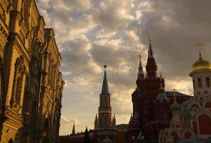 Moscou bonita foto de stock