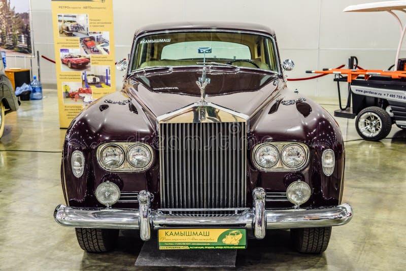 MOSCOU - EM AGOSTO DE 2016: A nuvem III 1964 de Rolls royce apresentou em MIAS Moscow International Automobile Salon o 20 de agos imagens de stock