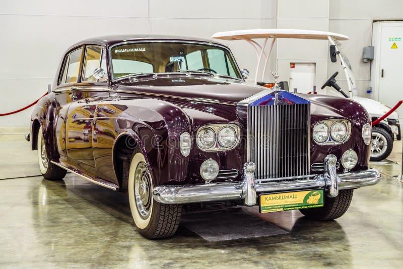MOSCOU - EM AGOSTO DE 2016: A nuvem III 1964 de Rolls royce apresentou em MIAS Moscow International Automobile Salon o 20 de agos imagem de stock royalty free