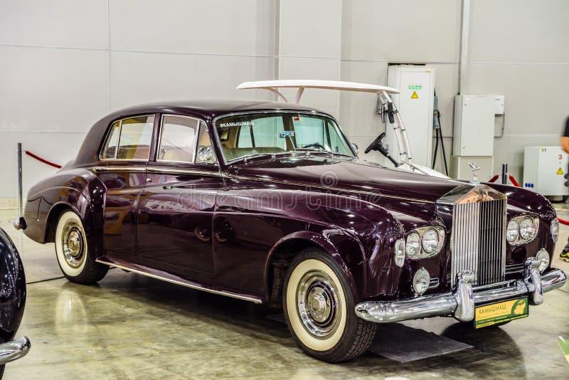 MOSCOU - EM AGOSTO DE 2016: A nuvem III 1964 de Rolls royce apresentou em MIAS Moscow International Automobile Salon o 20 de agos foto de stock