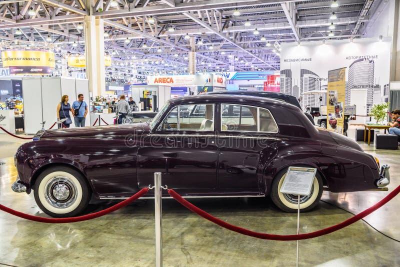MOSCOU - EM AGOSTO DE 2016: A nuvem III 1964 de Rolls royce apresentou em MIAS Moscow International Automobile Salon o 20 de agos fotos de stock